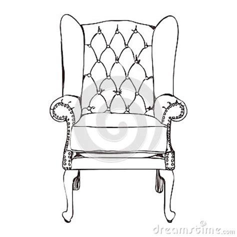 How To Draw A Armchair by An Armchair Stock Vector Image 51337419