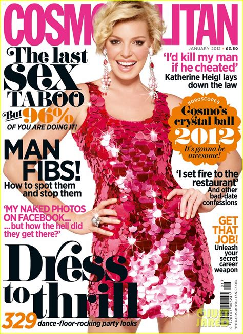 Catwalk To Photo Shoot Katherine Heigl In Herve Leger On The Cover Of Cosmopolitan Us February 2008 by Katherine Heigl Covers Cosmopolitan Uk January 2012
