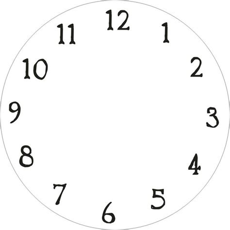 pattern for numbers only numbers only clock face