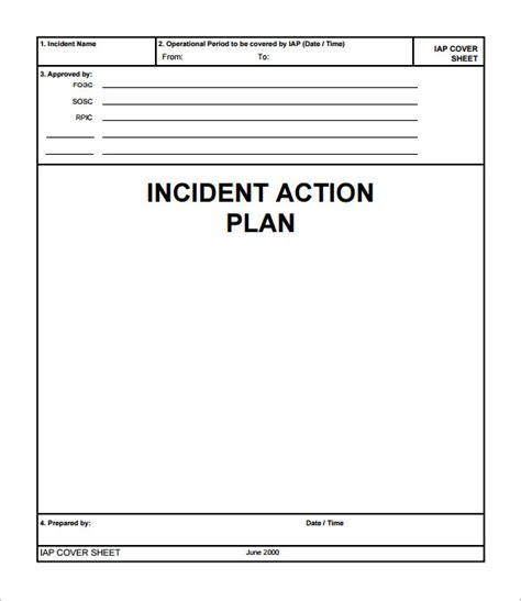 incident plan template 9 documents in