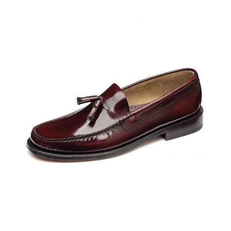 loake loafers loake georgetown polished leather tassel loafer moccasin