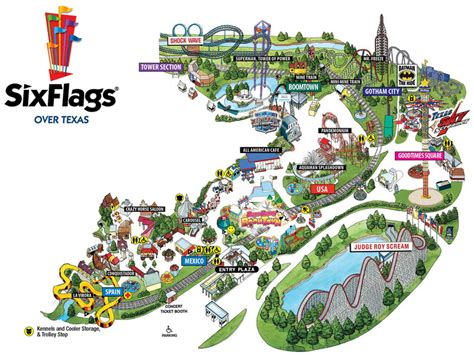 six flags texas arlington map attractions entertainment arlington tx usa wedding mapper
