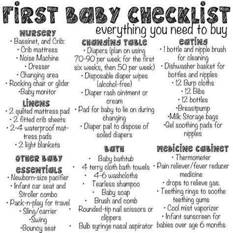 Things Needed For A Baby Shower by Baby Checklist Everything You Need To Buy Great