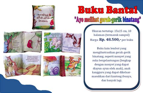 Buku Bantal Seri Binatang toko bayi kita seri melihat gerak gerik binatang