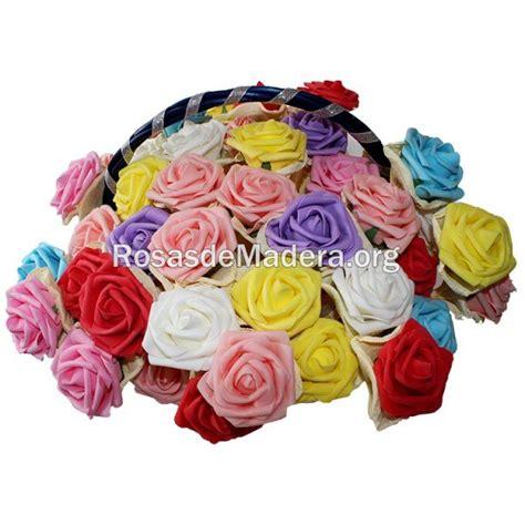 rosas pequenas de foamy o goma eva small foam roses cesta de rosas de goma eva rosas y flores de madera