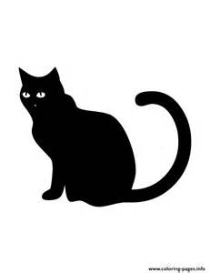 Print black cat silhouette coloring pages free printable