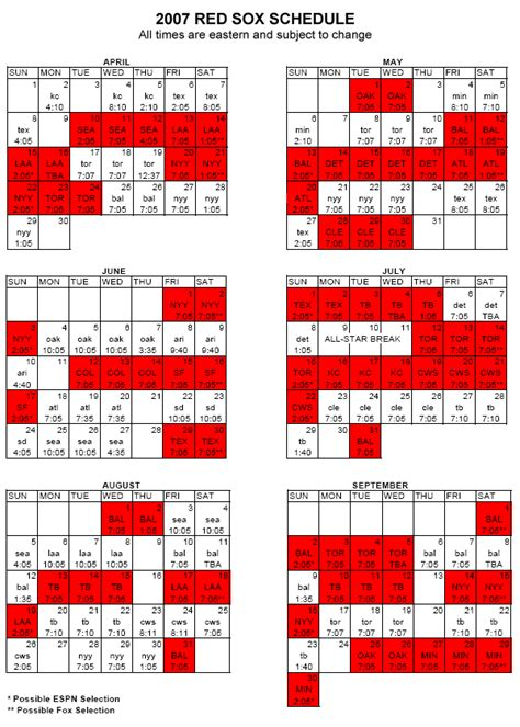 2016 boston sox printable schedule calendar template