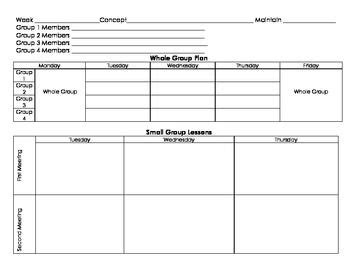 Guided Math Planning Sheet For Small Groups Common Core Standards Pinterest Small Groups Small Lesson Plan Template