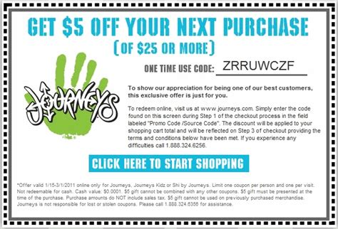 Journeys Coupons Printable journeys coupons in store printable coupons codes