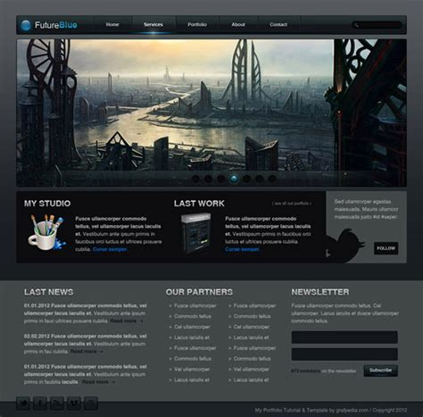 photoshop layout tutorials 2012 designing a website 30 great web design tutorials