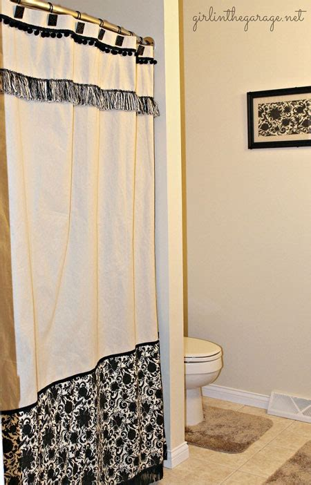 shower curtain diy 15 diy shower curtain projects anyone can make