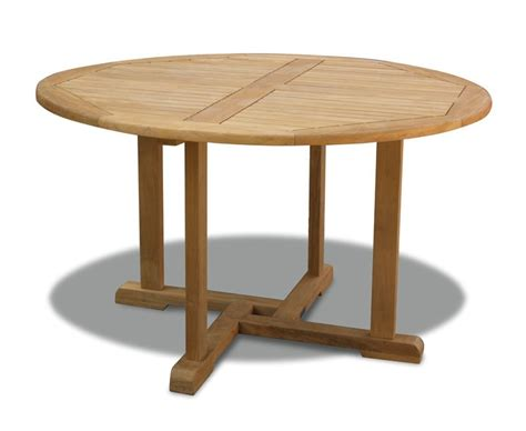 Canfield teak outdoor round table 130cm