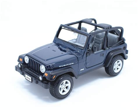 blue rubicon jeep jeep 1 27 blue rubicon 31245