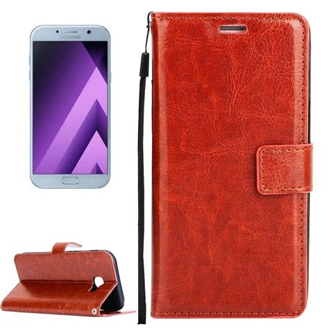 Samsung A5 2017 A520 Leather Flip Wallet Cover Flipcase Dompethp for samsung galaxy a5 2017 a520 texture horizontal flip pu leather with