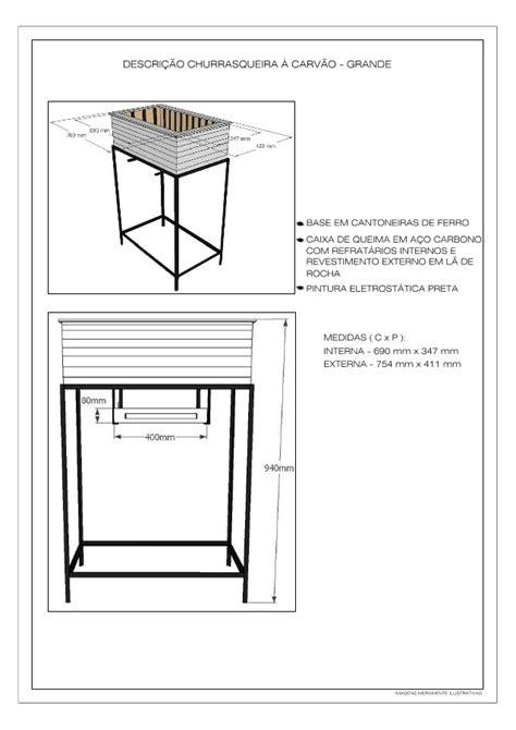 Manual de instalação do braseiro grande