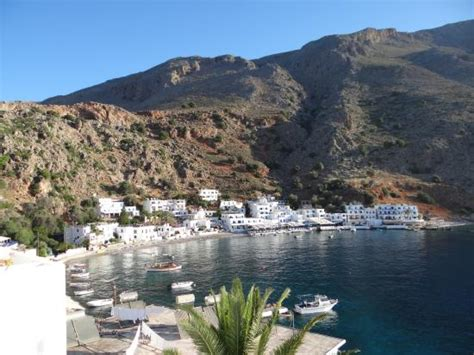 hotel porto loutro view of loutro from the hike to sweetwater picture of