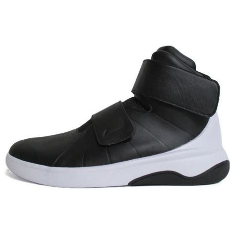 nike basketball shoes with straps nike marxman mens 832764 001 black white leather