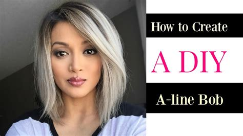 Diy A Line Hairstyles For Women | how to create a diy a line bob cut doovi