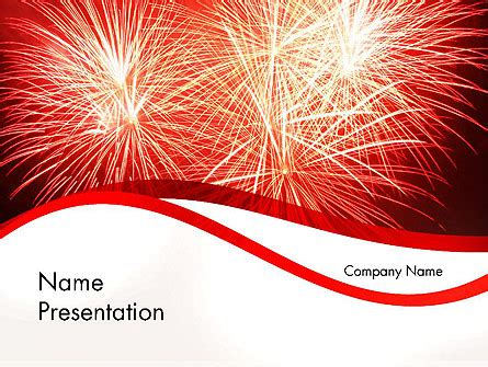 fireworks templates free bright fireworks powerpoint template backgrounds 11715
