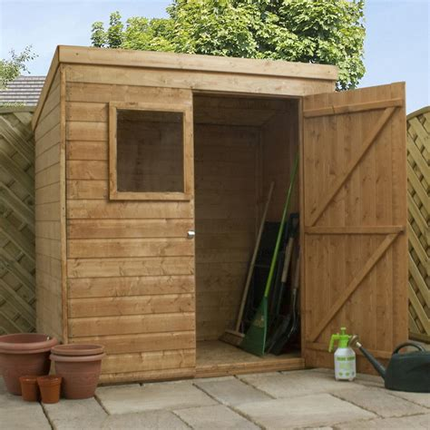 Shed 6 X 4 by 6x4 Shiplap Wooden Garden Shed Single Door Pent Roof Felt