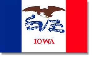 iowa state colors state flag descriptions