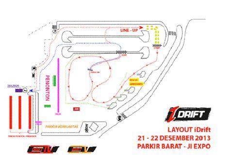 layout pameran mobil ini dia layout kejuaraan nasional drifting seri 4 dan 5