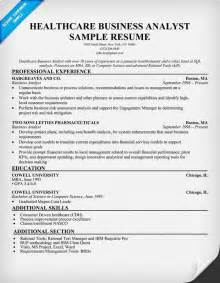 business analyst resumes sles healthcare business analyst resume exle http