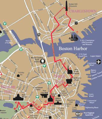 freedom trail boston map the freedom trail tea boston