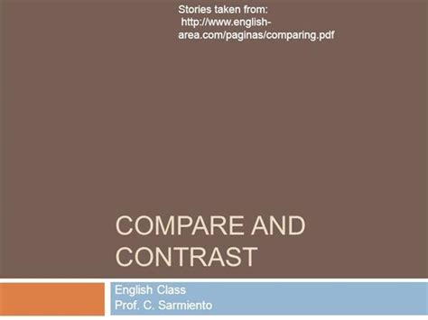 Compare And Contrast Authorstream Best Presentation For Compare And Contrast Powerpoint Templates