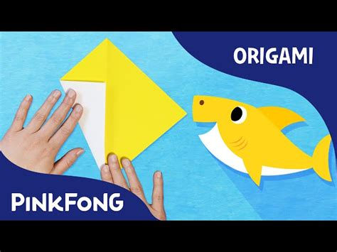 baby shark music baby shark animal song with origami pinkfong origami