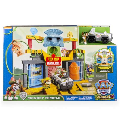 paw patrol lights and sounds spin master paw patrol monkey temple playset