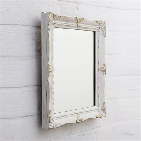 Handcrafted Mirrors - swept vintage style mirror by crafted mirrors