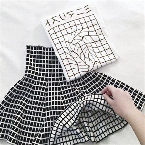 tumblr t shirt pattern skirt white black japan black skirt white skirt grid
