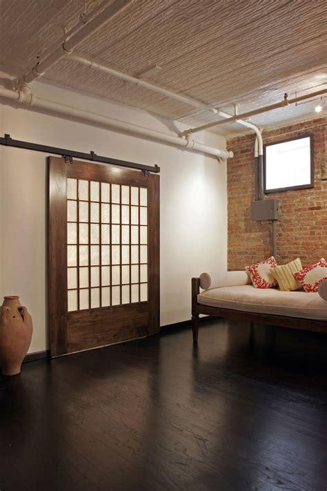 hanging sliding door hanging sliding door bedroom eclectic with barn door beige