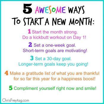 awesome ways  start   month inspiration gethealthyucom pinterest motivation