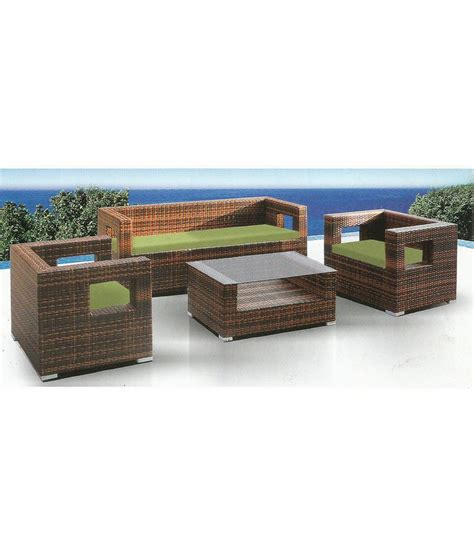 wicker settee set wicker black white sofa set 3 1 1 table available at snapdeal for rs 55000