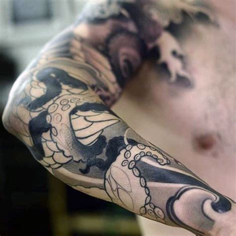 detailed tattoos for men best 25 octopus sleeve ideas on kraken