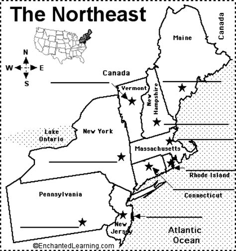 usa map northeastern states gallery northeastern states map with capitals