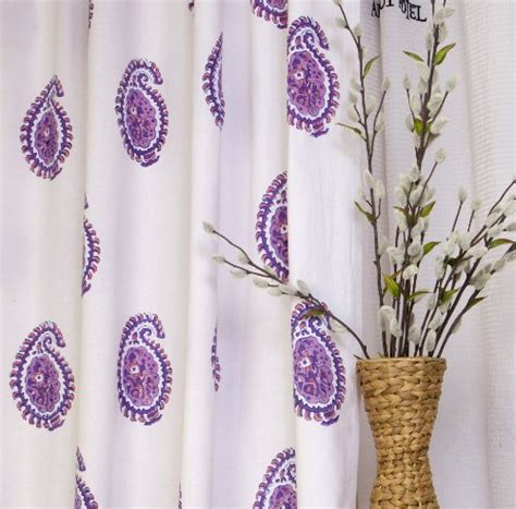 purple shower curtain fabric paisley drapes purple paisley fabric shower curtain by