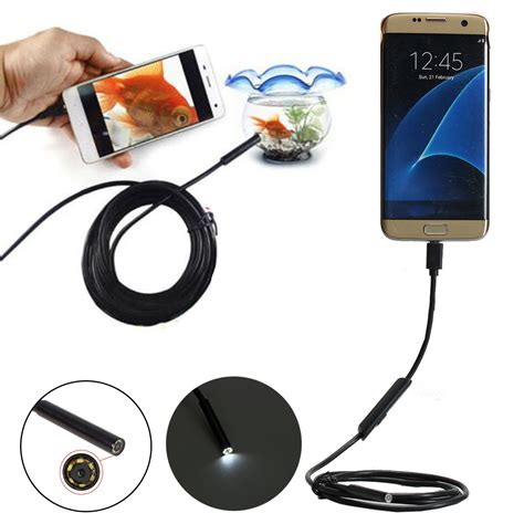 5 5mm Usb Endoscope For Pc 5 5mm 6 led usb endoscope waterproof inspection 1m