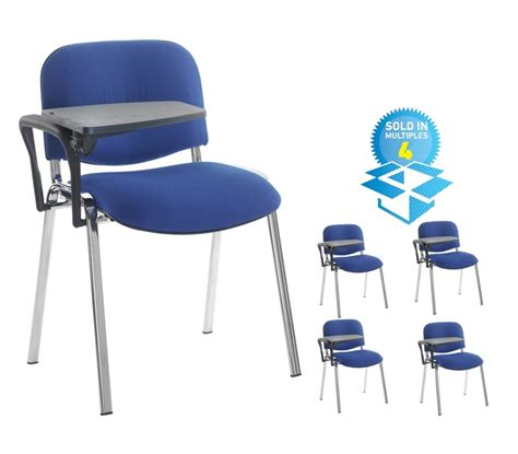 Blue Chair Chords by 4 X Chrome Frame Chair W Tab Blue Alpha Office Supplies