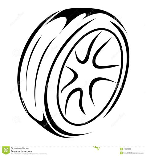 Free 2 Car Garage Plans Tyre Wheels Sketch Stock Vector Image 47327984