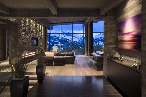 mountain homes interiors mountain mimic the interior of this beautiful house mimics the mountain view