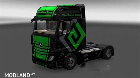 mercedes actros mp  green group skin mod  ets
