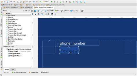 android studio layout id membangun ui dengan layout editor android studio