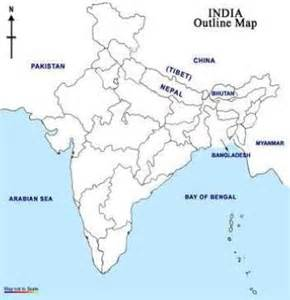 India River Map Outline Plain by India Map Outline Only Quotes