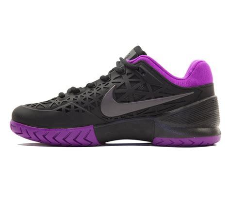 nike air zoom cage 2 s tennis shoes black purple