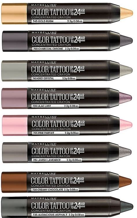Maybelline Eye Studio Crayon Eyeliner maybelline eye studio colortattoo concentrated crayon
