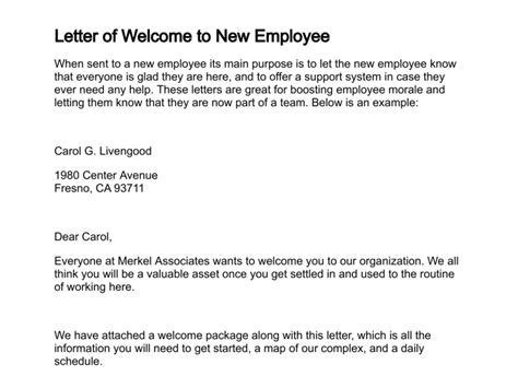 Employment Welcome Letter Best Photos Of Words To Welcome New Employees New Employee Welcome Letter Welcome New Staff