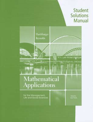 mathematical applications for the management and social sciences books 9781133108528 student solutions manual for harshbarger